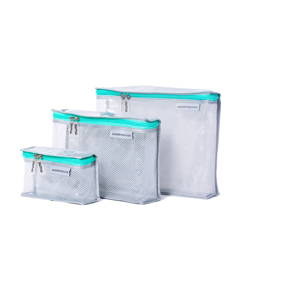 Toiletry Cubes S/3 - Aqua - Give Wink