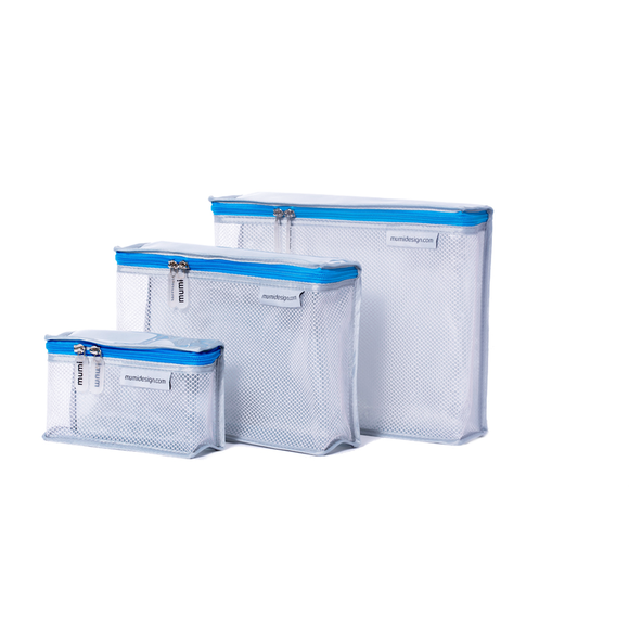 Toiletry Cubes S/3 - Blue - Give Wink