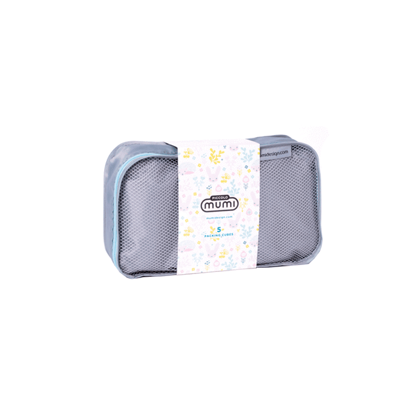 Packing Cubes S/5 (Piccolo) - Light Blue - Give Wink