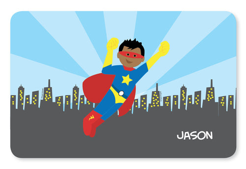 Cool Superhero Personalized Kids Placemat - Give Wink