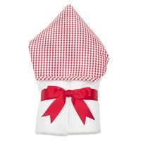 Red Check Hooded Towel - Give Wink