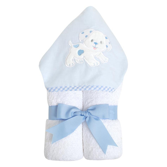 Puppy Hooded Towel - Miami Baby Store. Blue