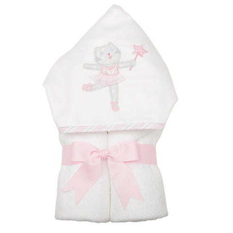 Ballet Kitty Hooded Towel