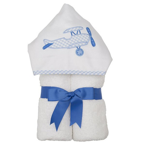Blue Plane Hooded Towel