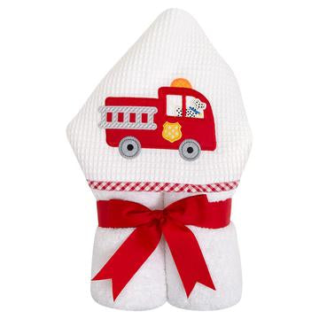 Fire Truck Hooded Towel - Give Wink
