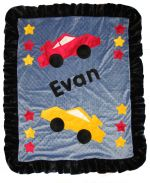 Custom Blanket Race Cars - Give Wink