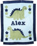 Custom Blanket Dinosaurs - Give Wink
