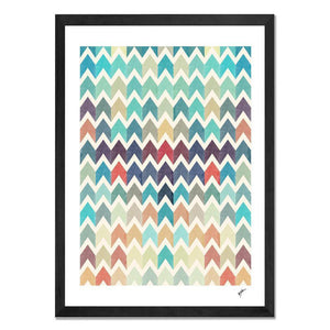 Framed Art - Watercolor Chevron Pattern II - Give Wink