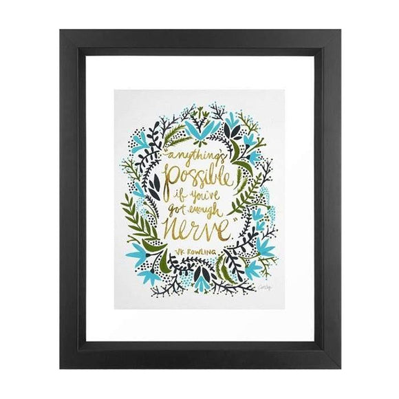 Framed Art - Anything's Possible - Give Wink