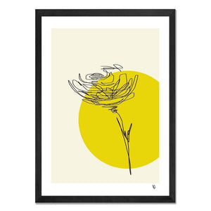 Framed Art - Abstract Rose - Give Wink