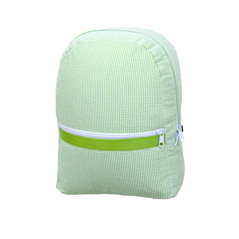 Lime Seersucker Large Backpack