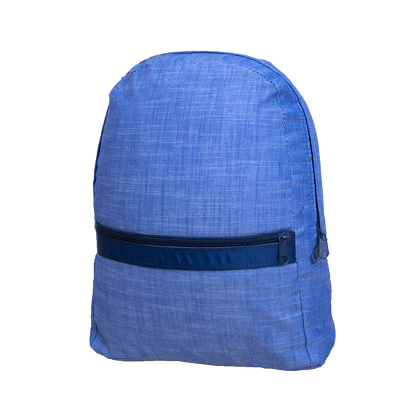Navy Chambray Large Backpack - Give Wink