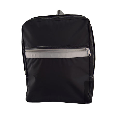Black/Grey Nylon Small Backpack