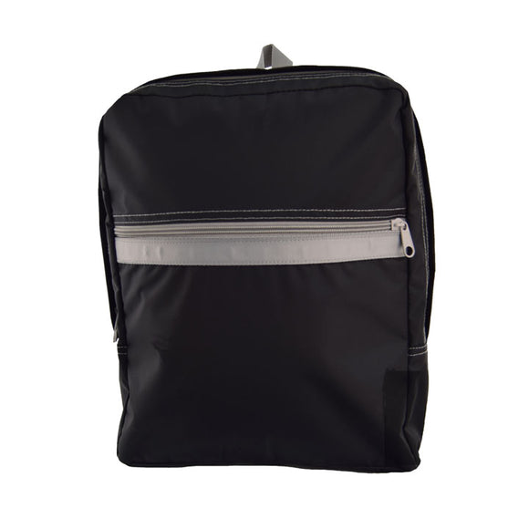 Black/Grey Nylon Med. Backpack - Give Wink
