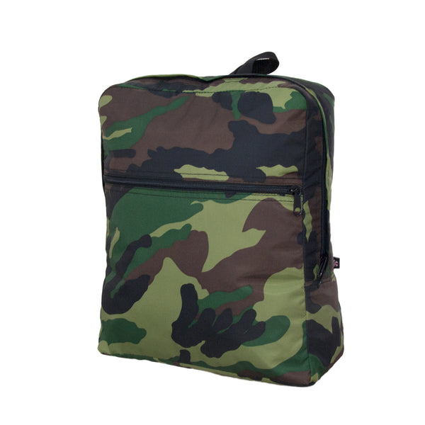 Camo Nylon Large Backpack - Give Wink