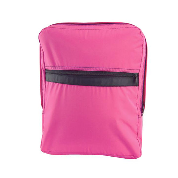 Hot Pink/Black Nylon Med. Backpack - Give Wink
