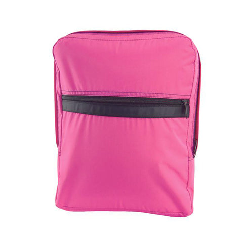 Hot Pink/Black Nylon Med. Backpack