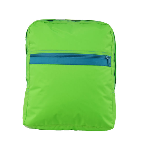 Lime/Aqua Nylon Small Backpack - Give Wink