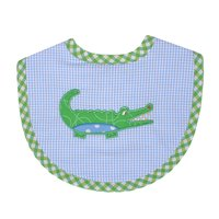 Alligator Applique Bib - Give Wink