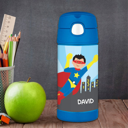 Cool Superhero Personalized Thermos Bottle - Give Wink