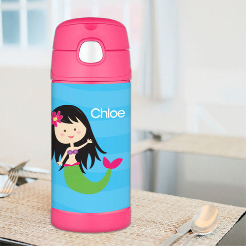 Cute Mermaid Personalized Thermos Bottle - Give Wink