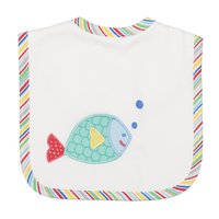 Fish Applique Bib - Give Wink