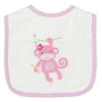 Monkey Applique Bib - Give Wink