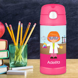 Cool Scientist Girl Personalized Thermos Bottle - Give Wink