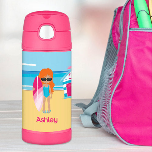 Beach Girl Personalized Thermos Bottle - Give Wink