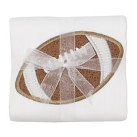 Football Applique Burp