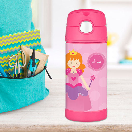Cute Princess Personalized Thermos Bottle - Give Wink