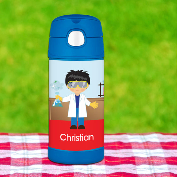 Cool Scientist Boy Personalized Thermos Bottle - Give Wink