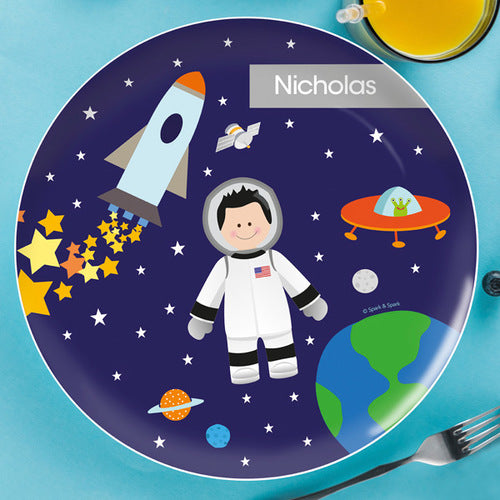 Astronaut To The Moon Personalized Kids Plates - Give Wink