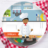 The Boy Chef Personalized Kids Plates - Give Wink