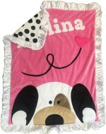 Custom Blanket Peekaboo Puppy - Give Wink