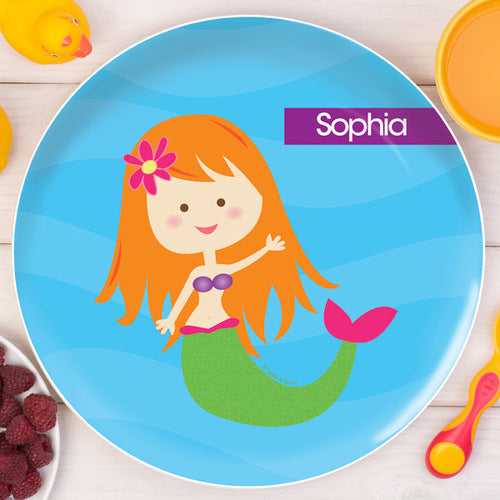Cute Mermaid Personalized Kids Plates - Give Wink