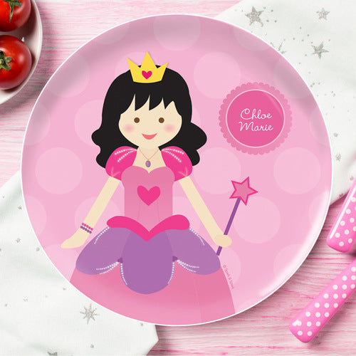 Cute Princess Personalized Kids Plates - Give Wink