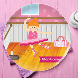 Ballerina Studio Personalized Kids Plates - Give Wink
