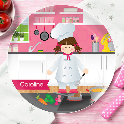 The Girl Chef Personalized Kids Plates - Give Wink