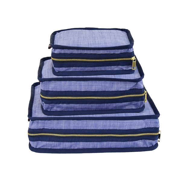 Navy Chambray Organizing Trio - Give Wink