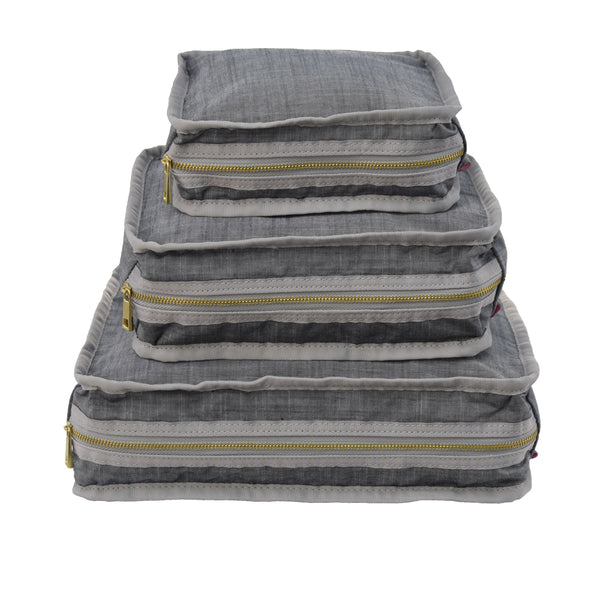 Grey Chambray Organizing Trio - Give Wink