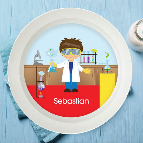Cool Scientist Boy Personalized Kids Bowl - Give Wink