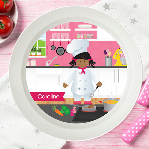 Spark and Spark. The Girl Chef Personalized Kids Bowl. Miami Baby Store. African American