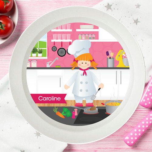 Spark and Spark. The Girl Chef Personalized Kids Bowl. Miami Baby Store. Red Hair