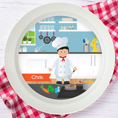 Spark and Spark. Boys Chef Personalized Kids Bowl. Miami Baby Store. Asian