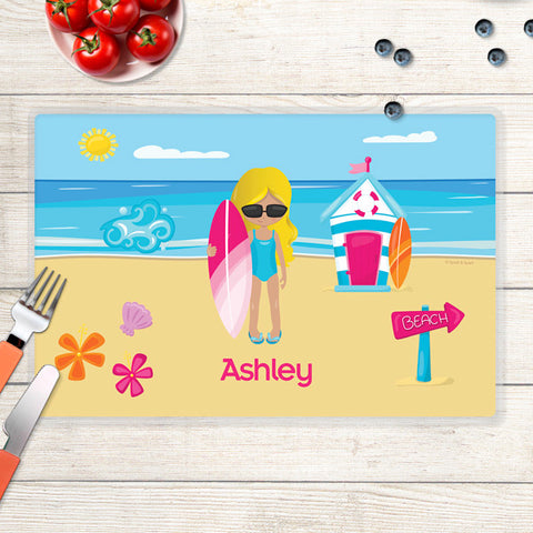 Beach Girl Personalized Kids Placemat