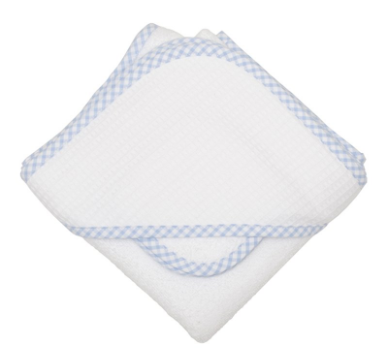 Check Pique Infant Hooded Towel & Washcloth Set