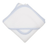 Check Pique Infant Hooded Towel & Washcloth Set - Give Wink
