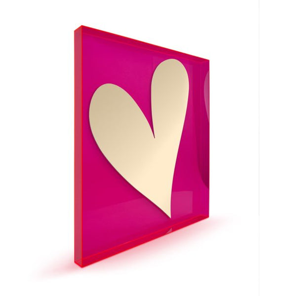 Gold Heart Wall Sculpture – Floating - Give Wink