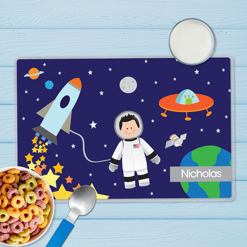 Astronaut To The Moon Personalized Kids Placemat - Give Wink